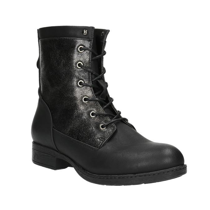 Dámska členková obuv bata, čierna, 591-6609 - 13