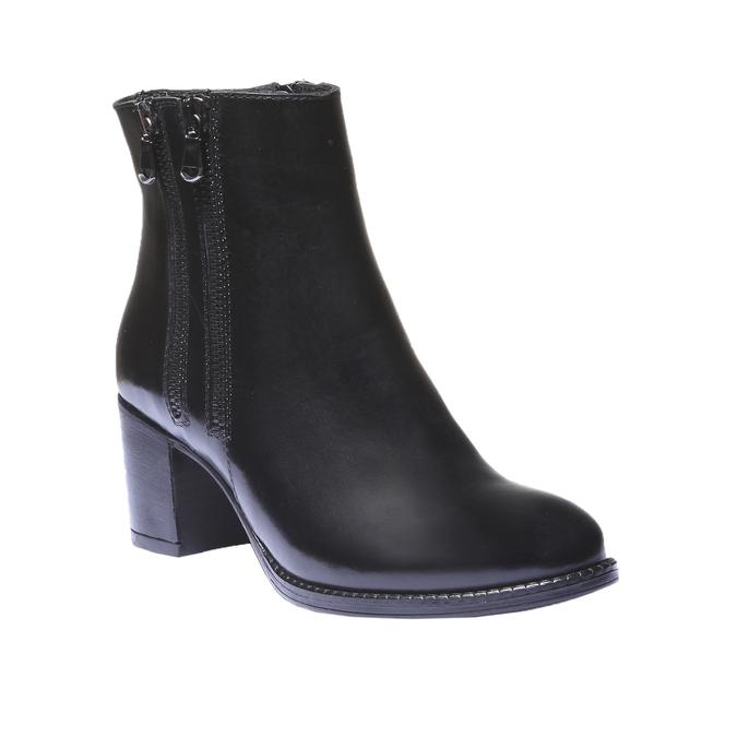 Kožená členková obuv bata, čierna, 794-6566 - 13