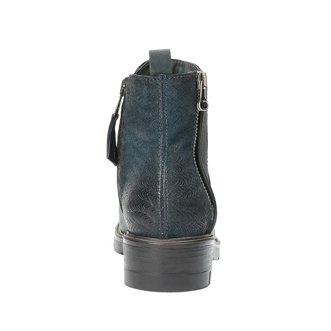 Kožená členková obuv na výraznej podrážke bata, 596-9615 - 17