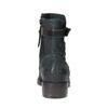 Kožená členková obuv so striebornými detailami bata, 596-9614 - 17