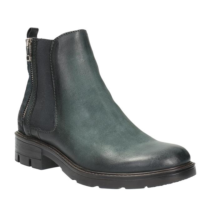 Kožená členková obuv na výraznej podrážke bata, 596-9615 - 13
