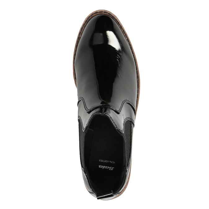 Lakované Chelsoa Boots na výraznej podošve bata, čierna, 591-6603 - 26