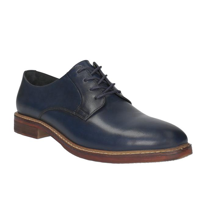 Ležérne kožené poltopánky bata, modrá, 826-9644 - 13