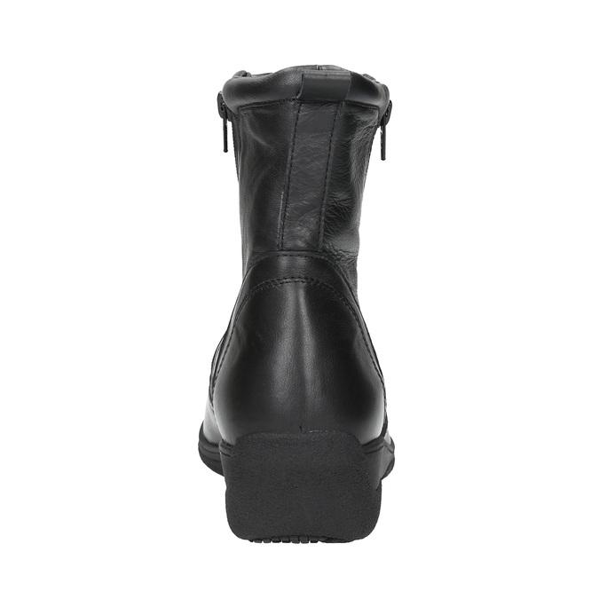 Kožená členková obuv so zipsom bata, čierna, 594-6634 - 17