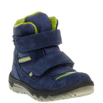 Kožené detské topánky mini-b, modrá, 293-9150 - 13