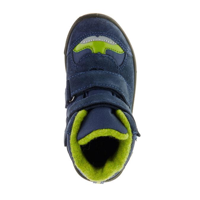 Kožené detské topánky mini-b, modrá, 293-9150 - 19