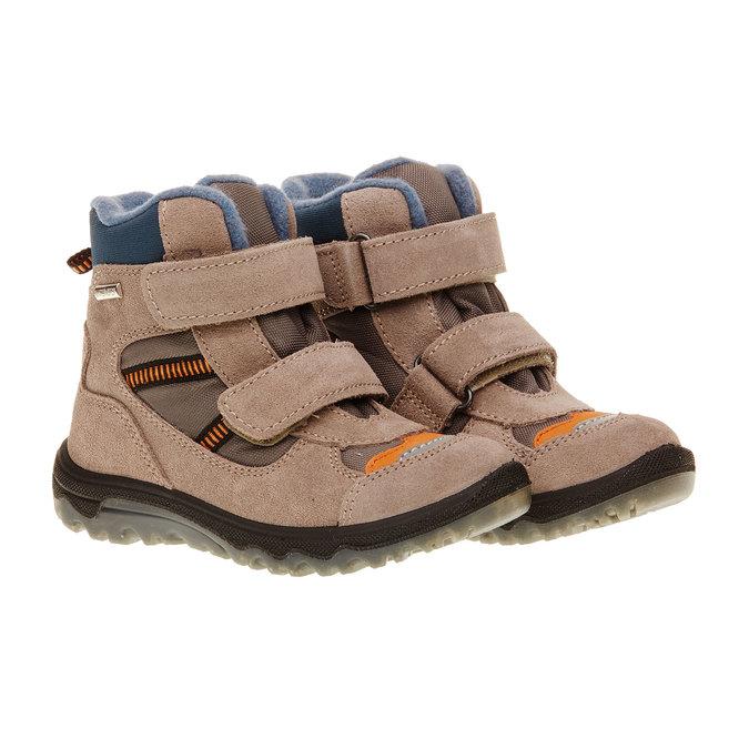 Kožené detské topánky mini-b, šedá, 293-2150 - 26