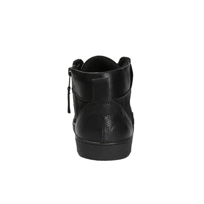 Kožená členková obuv pánska bata, čierna, 846-6602 - 17