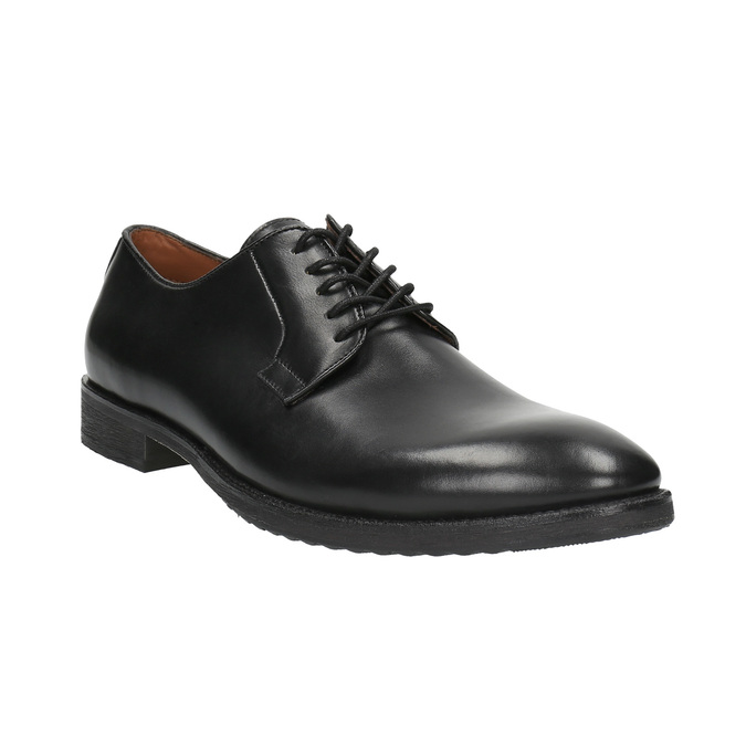 Pánske poltopánky Derby bata, čierna, 824-6659 - 13