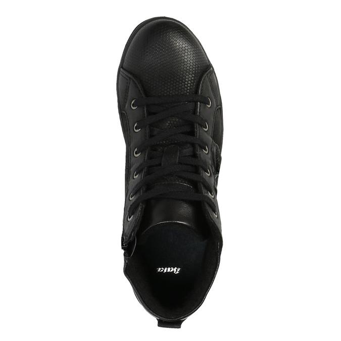 Kožená členková obuv pánska bata, čierna, 846-6602 - 19