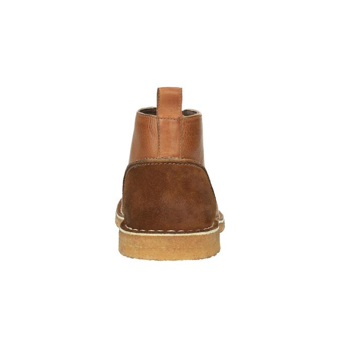 Kožené Chukka Boots bata, hnedá, 824-3665 - 17