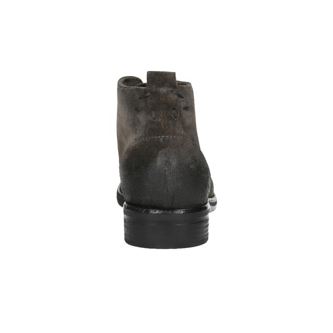 Členková obuv z brúsenej kože bata, šedá, 846-6611 - 17