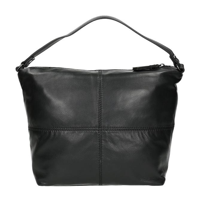Kožená kabelka s odnímateľným popruhom bata, čierna, 964-6233 - 19