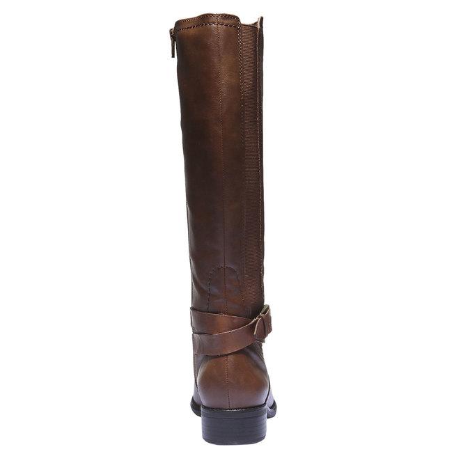 Kožené čižmy s prackou bata, hnedá, 594-4115 - 17