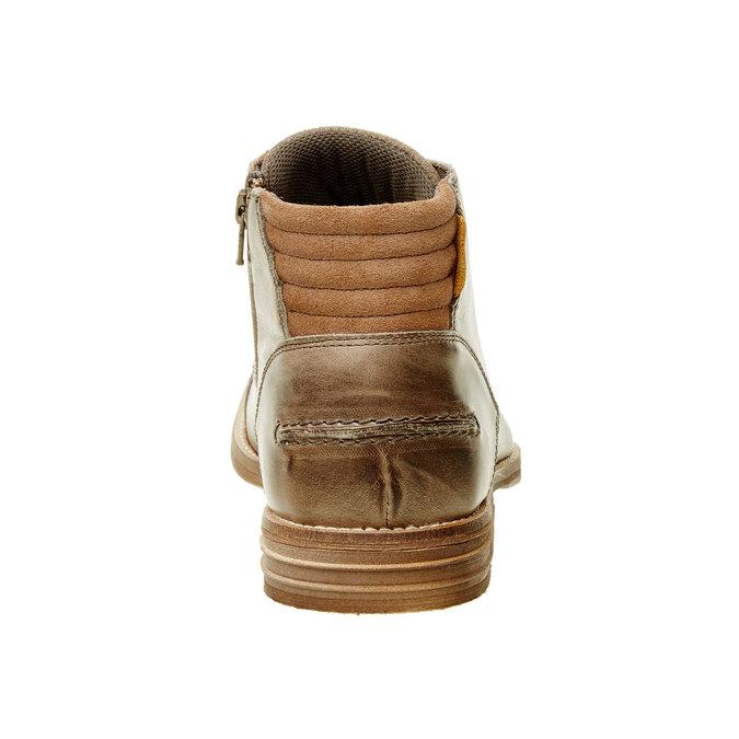 Kožená členková obuv pánska bata, šedá, 894-2620 - 17