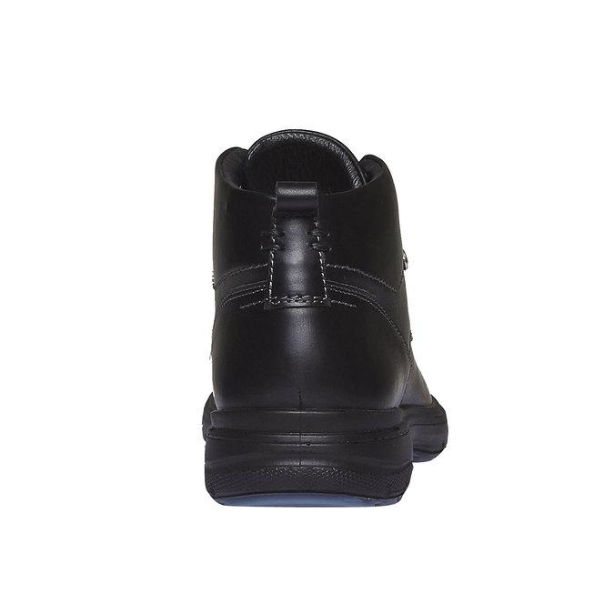 Kožené členkové topánky bata, čierna, 894-6226 - 17