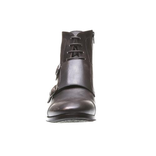 Kožené členkové poltopánky bata, hnedá, 894-4646 - 16