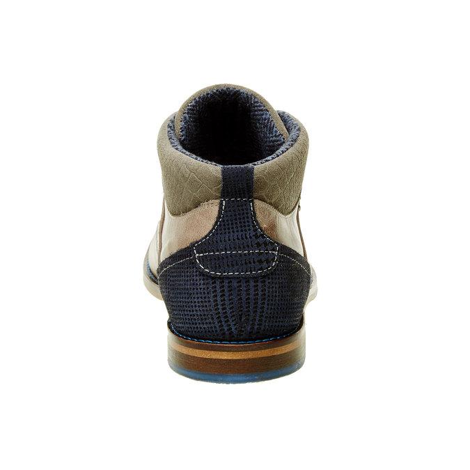 Ležerne kožené poltopánky nad členky bata, šedá, 894-2622 - 17