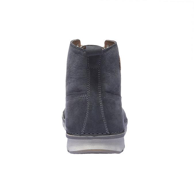 Kožená obuv na šnurovanie weinbrenner, fialová, 896-9340 - 17