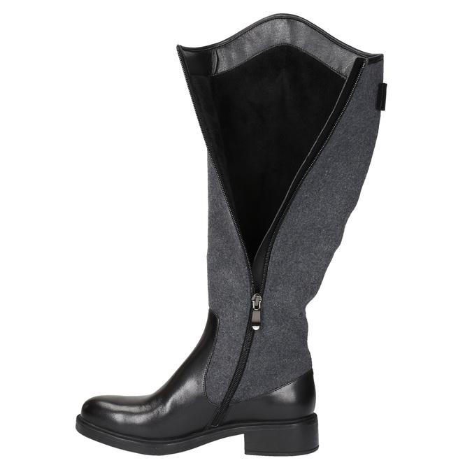 Dámske čižmy v jazdeckom štýle bata, čierna, 594-6630 - 19