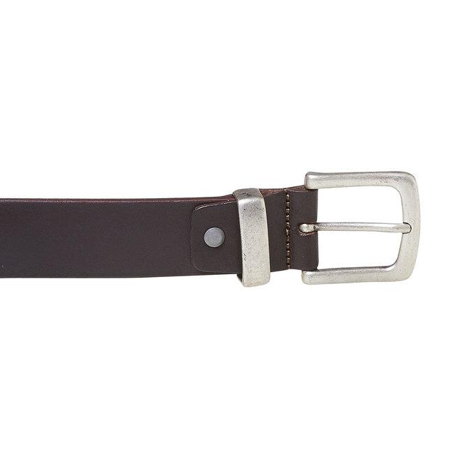 Pánsky kožený opasok hnedý bata, hnedá, 954-4162 - 26