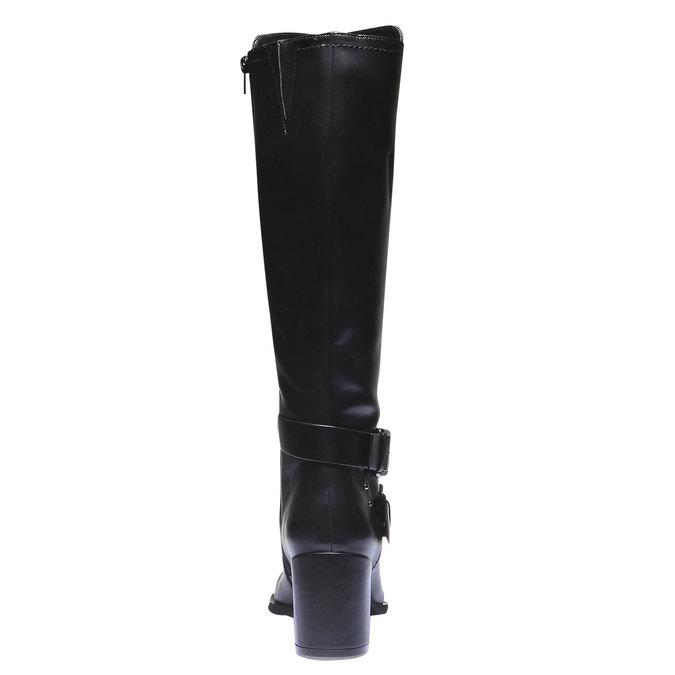 Čižmy s prackami bata, čierna, 791-6156 - 17