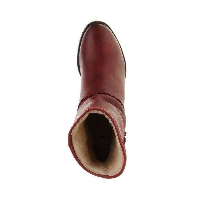 Kožená členková obuv bata, červená, 696-5109 - 19