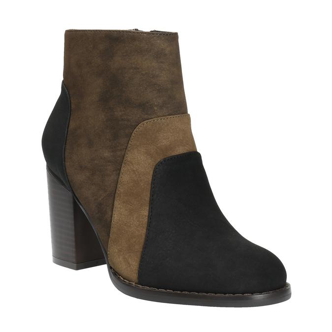 Členková obuv na širokom podpätku bata, hnedá, 799-3612 - 13