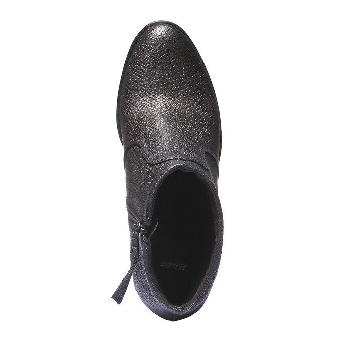 Kožené členkové topánky bata, šedá, 796-2107 - 19