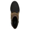 Členková obuv na širokom podpätku bata, hnedá, 799-3612 - 19