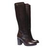 Kožené čižmy na podpätku bata, hnedá, 794-4106 - 26