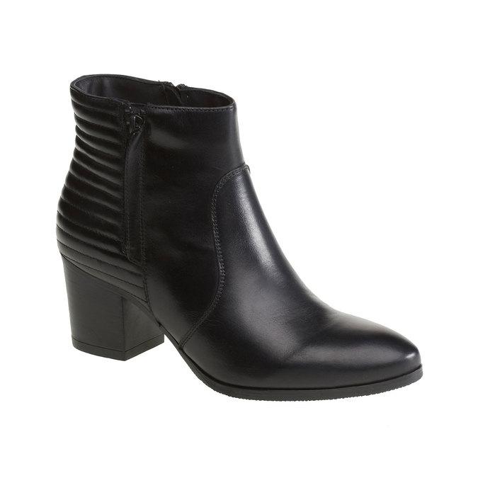 Kožené členkové čižmy so zipsami bata, čierna, 694-6105 - 13