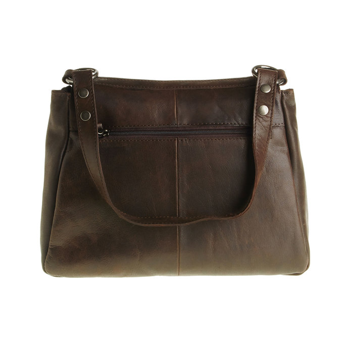 Kožená kabelka s klopou bata, hnedá, 964-4133 - 26