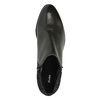 Kožená členková obuv na nízkom podpätku bata, čierna, 696-6613 - 19