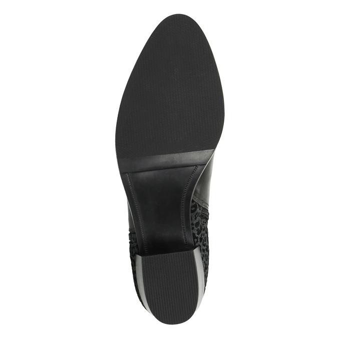 Kožená členková obuv na nízkom podpätku bata, čierna, 696-6613 - 26