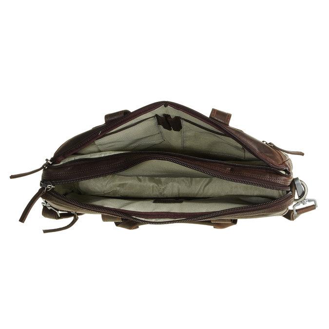 Kožená taška so zipsom bata, hnedá, 964-4101 - 15