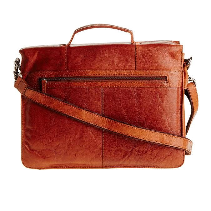 Kožená aktovka bata, hnedá, 964-3138 - 26