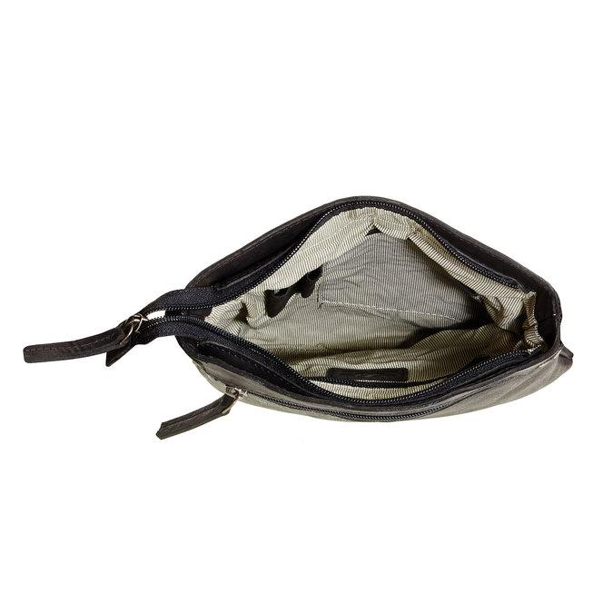 Kožená Crossbody taška bata, čierna, 964-6113 - 15