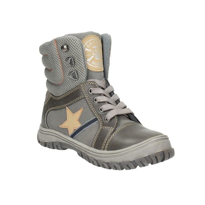 Detská členková obuv mini-b, šedá, 411-2602 - 13