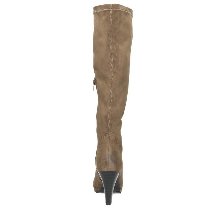 Dámské čižmy na podpätku bata, béžová, 799-2602 - 17
