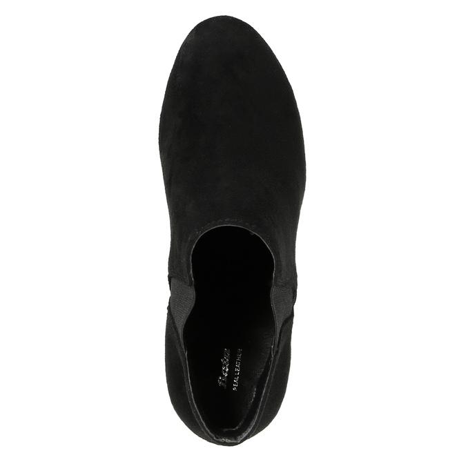 Dámska členková obuv na podpätku s pružnými bokmi bata, čierna, 799-6601 - 19