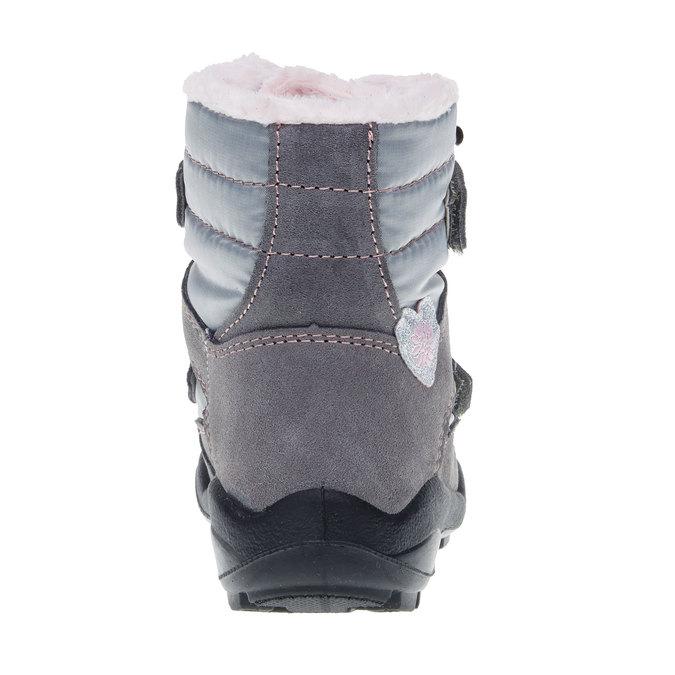 Kožené zimné topánky mini-b, šedá, 293-2152 - 17
