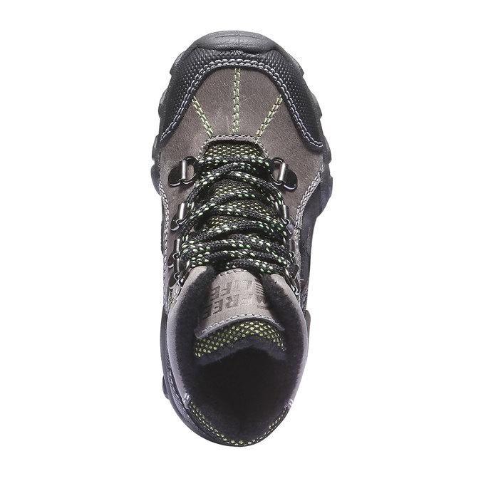 Detské vysoké kožené topánky mini-b, šedá, 216-2100 - 19