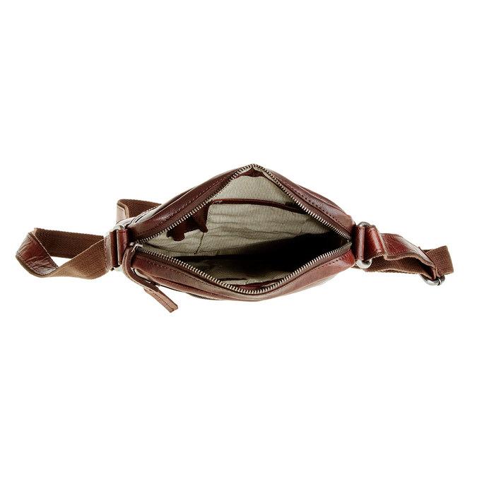 Pánska kožená  Crossbody taška bata, hnedá, 964-4180 - 15