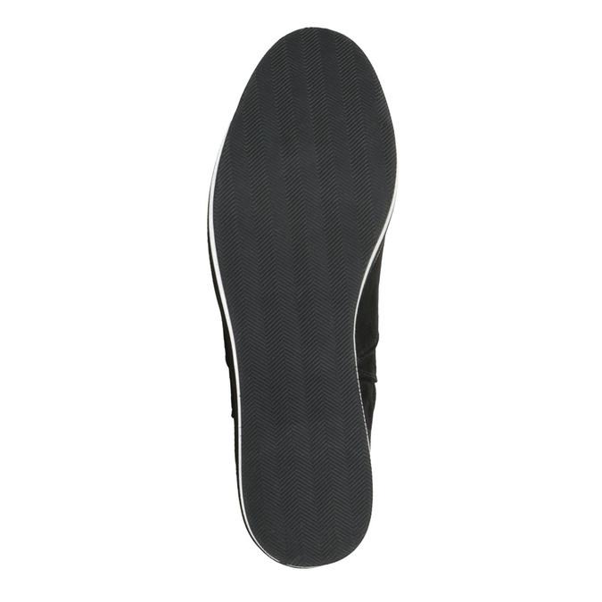 Dámske čižmy na flatforme bata, čierna, 699-6600 - 26