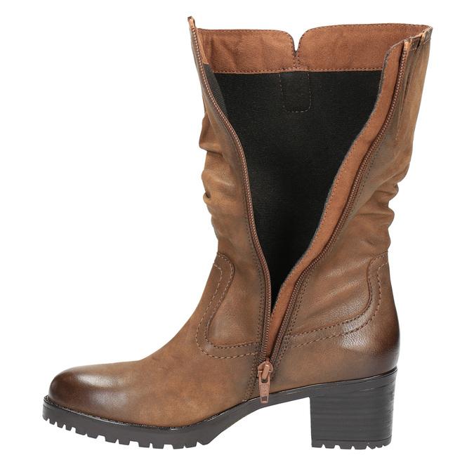 Dámska členková obuv bata, hnedá, 696-3127 - 19