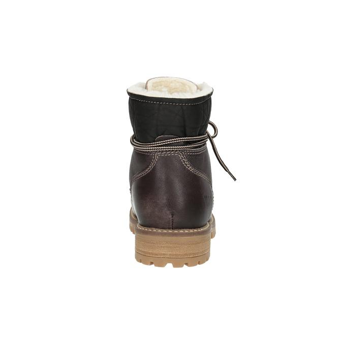 Dámska kožená zimná obuv weinbrenner, hnedá, 594-4491 - 17