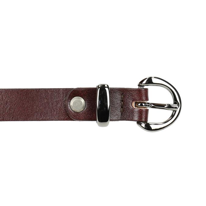 Kožený opasok s menšou sponou bata, červená, 954-5100 - 26