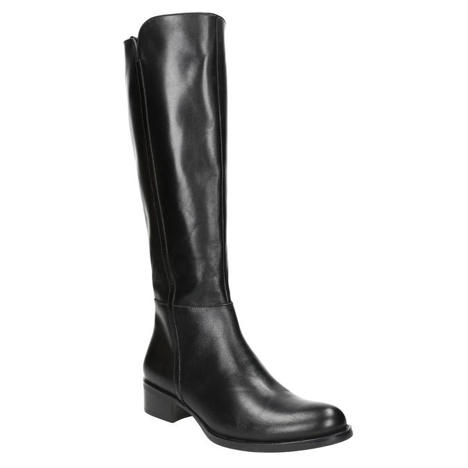 Dámske kožené čižmy bata, čierna, 594-6586 - 13