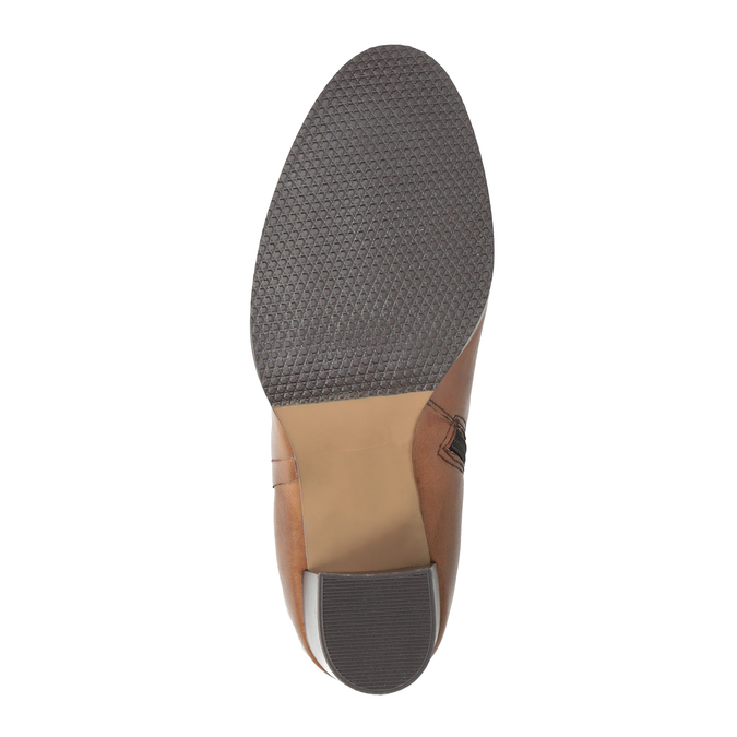 Dámské kožené čižmy bata, hnedá, 794-4447 - 26
